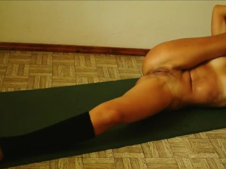 My naked sensual workout in gymnastics & yoga. Something intreresting after workout in next video :)