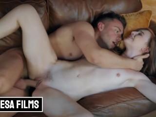 Bellesa - Petite Ginger Danni Rivers gets covered in cum