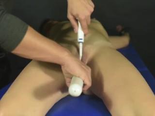 Post orgasm torture for miss Anne