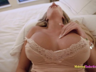 Step Mom with New Big Tits Wants her Face Covered in Cum - Nikki Brooks