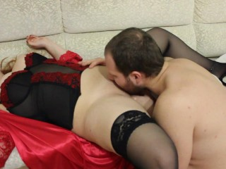 Pussy of a sexy girl was licked to a perfect orgasm