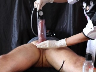 extreme cock and balls pumping and urethral insertion femdom big cock torture (part 2 of 3)