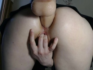 Schoolgirl Fucks Ass To SQUIRT (GROOL PUSSY)