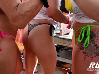 Nasty Twerk Pool Party Sluts out of Control