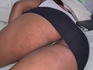 Thick Booty Slim Latina Upskirt on the Couch Caught Adjusting Panty - After Party Candid POV