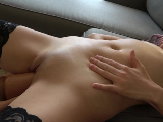 Watch her belly bulge as her tiny body is penetrated