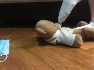 Teddy Bear Dirty Sock Sniffing Trailer