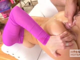 Cute blonde Tiffany Watson gets all holes fucked hard by date