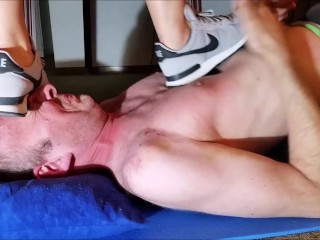 Hard Head Stomping and Trampling with Nike Sneaker (Trailer)