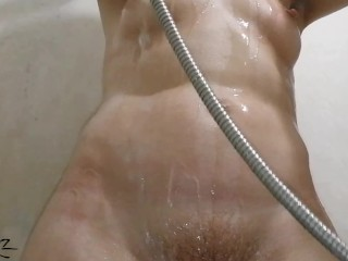 MILF washes in the shower, before sex.  HD
