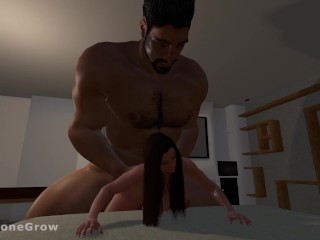 Doggystyle Sex Growth (Giantess & Giant POV)