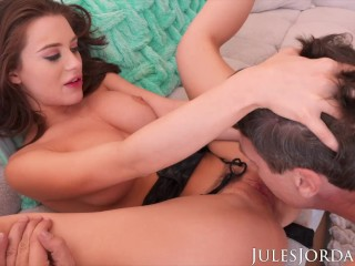 Jules Jordan - Lana Rhoades' Fantasy Comes True She Gets To Fuck An Old Man