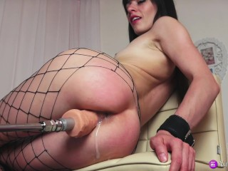 Fast Multiple Squirt Orgasm with Sex machine.Record live stream 20