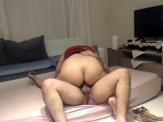 SCANDAL ! CHEATING HIJAB PREGNANT WIFE FUCKED BY WORKER !
