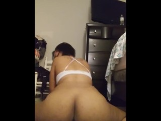Pregnant Size queen squirts on big dildo