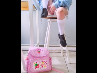 Nymphet Getting Ready for School