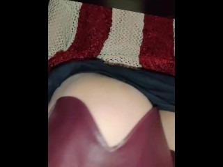 Slipping My Panties Off in a Crowded Bar So I can Masturbate With a Dildo