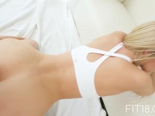 FIT18 - Emma - 47kg - Casting Skinny Canadian Blonde - 60FPS